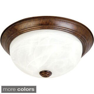 Yosemite Home Decor 2-light Flush Mount Ceiling Fixture