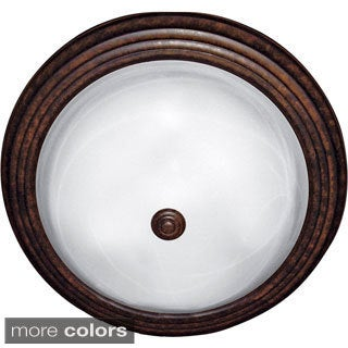 Yosemite Home Decor 3-light Flush Mount Ceiling Fixture with White Marble Glass
