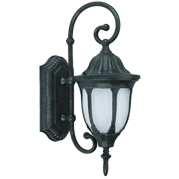 Ambient Single Light Outdoor Wall Sconce with Frosted Glass
