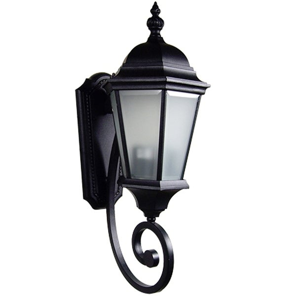 Frosted Glass 2-light Outdoor Wall Sconce with Photo Sensor