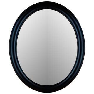 Uttermost Montrose Mahogany Antiqued Silver Beveled Oval