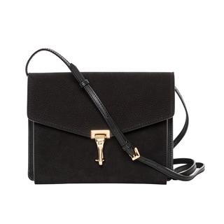 Burberry Small Black Nubuck Leather Crossbody Bag