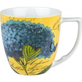 Waechtersbach Floral Impressions Blue Hydrangea Mugs (Set of 4)