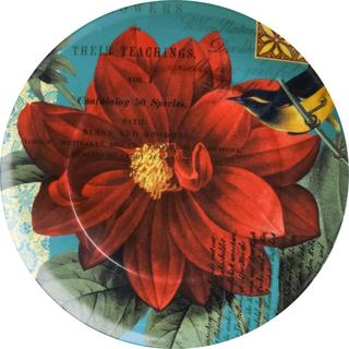 Waechtersbach Floral Impressions Red Dahlia Plates (Set of 4)