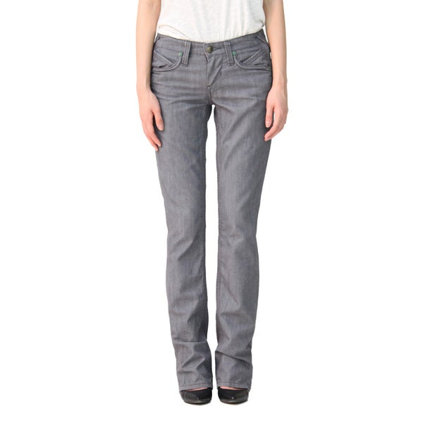 Stitch's Women's Grey Straight Leg Jeans