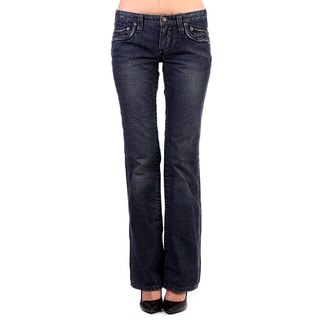 Stitch's Women's Blue Boot Cut Denim Jeans