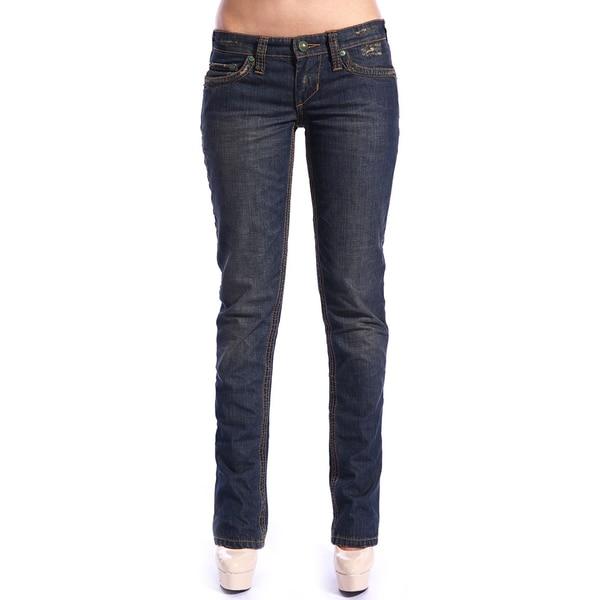 Stitch's Women's Dark Blue Straight Leg Denim Jeans