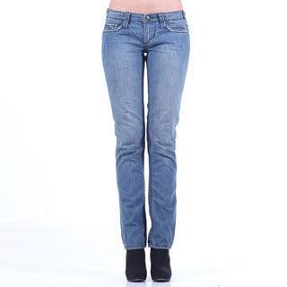 Stitch's Women's Blue Straight Leg Denim Jeans