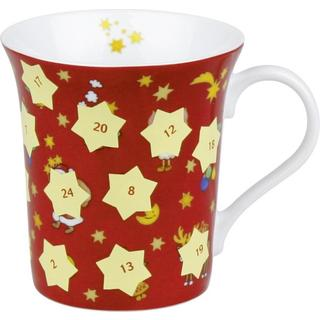 Konitz Advent Scratch Off Christmas Mugs (Set of 2)