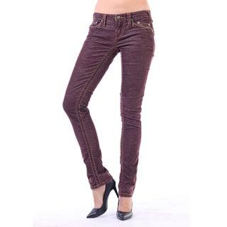 Stitch's Women's Brown Wash Straight Leg Jeans