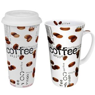 Konitz Coffee to Stay/ Coffee to Go Mega Mug Coffee Collage (Set of 2)