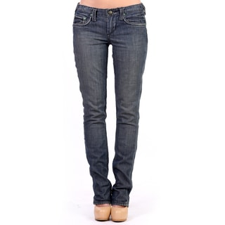 Stitch's Women's Slim Fit Blue Straight Leg Jeans