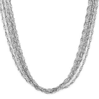 Elya Stainless Steel Multi-strand Twisted Necklace