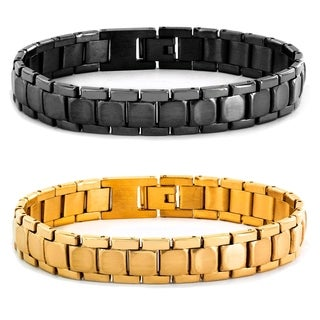 Stainless Steel Men's Brushed and Polished Link Bracelet