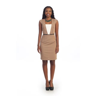 Hadari Women's Square Neck A-line Sheath Dress