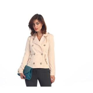 Hadari Women's Blush Button-front Double Breast Jacket