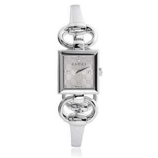 Gucci Women's YA120508 Stainless Steel Diamond 'Tornabuoni' Watch