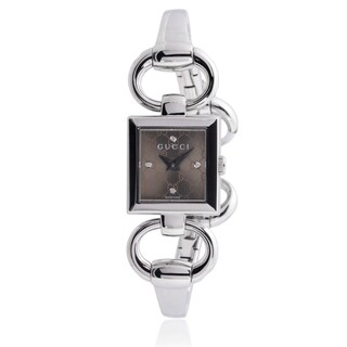 Gucci Women's YA120509 Stainless Steel Diamond 'Tornabuoni' Watch