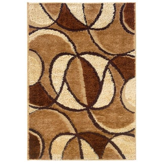 Spangles Shag Envy Wheat Area Rug (6'7 x 9'10)