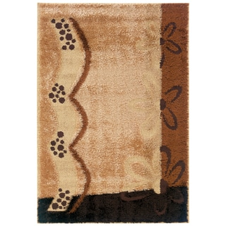 Spangles Shag Sparkle Wheat Area Rug (6'7 x 9'10)