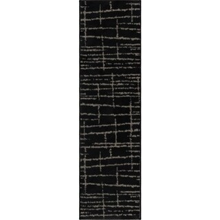 Sherwood Logan Black Rug (2'3 x 8')