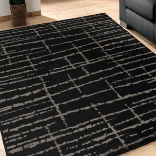 Sherwood Logan Black Rug (5'3 x 7'6)