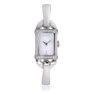 Gucci Women's YA068507 Stainless Steel 3/8ct TDW Watch (G-H, l1-l2)