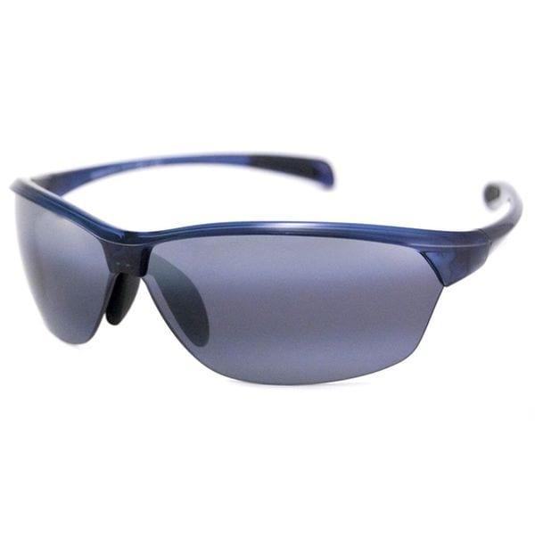 Maui Jim Men's 'Hot Sands' Blue/ Grey Polarized Sport Sunglasses