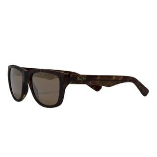 Maui Jim Unisex 'Maui Cat III' Tortoise Full-frame Polarized Sunglasses