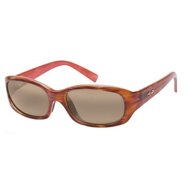 Maui Jim Unisex 'Punchbowl' Tortoise Polarized Rectangle Sunglasses