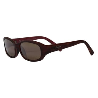 Maui Jim Unisex 'Punchbowl' Tortoise Polarized Rectangle Sunglasses
