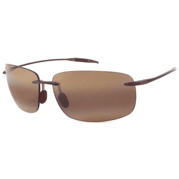 Rimless Polarized Sunglasses : Maui Jim Unisex Breakwall Brown Polarized Rimless ...