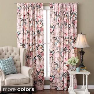 Antoinette Floral Linen 96-inch Curtain Panel