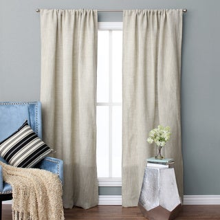 Jack Linen and Cotton Rod Pocket 96-inch Curtain Panel