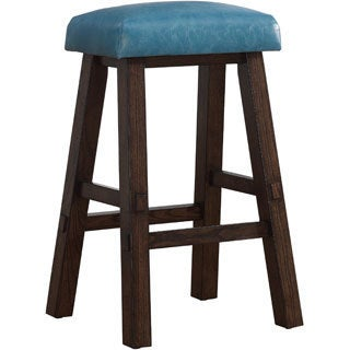 Turin Counter Height Stool in Blue