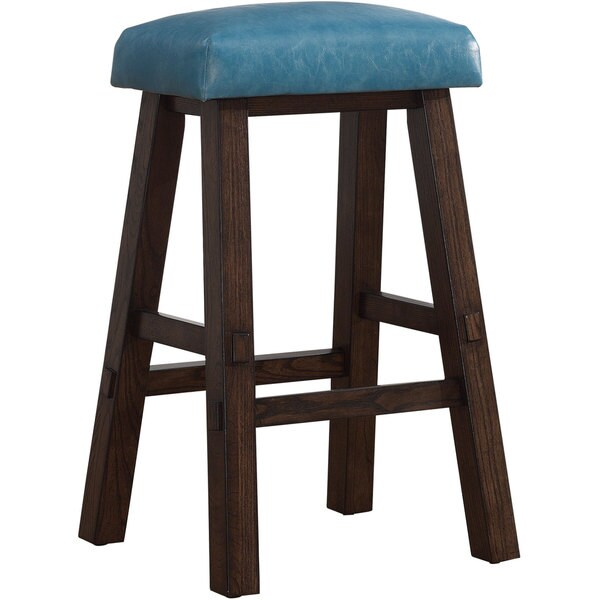Turin Counter Height Stool In Blue 16515140 Overstock