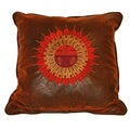 Plateau Sundial Stitched Square Throw Pillow