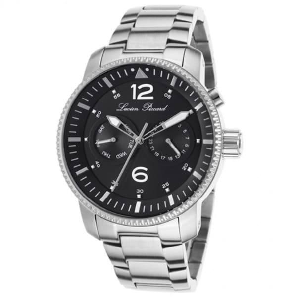 Lucien Piccard Men's Expeditor LP-13017-11 Black Stainless Steel Watch
