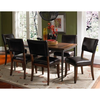 Cameron 7-piece Rectangle Dining Set with Parson Chairs