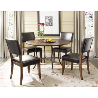 Cameron 5-piece Round Table and Parson Chairs Set