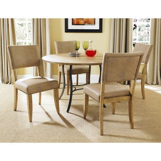 Charleston 5-piece Round All Metal Base Dining Set