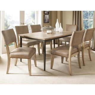 Charleston 7-piece Rectangle Dining Set with Parson Chairs