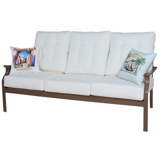 Panama Jack Beige Island Breeze Deep Seating Sofa with Cushion