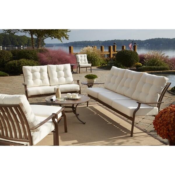 Panama Jack Beige Island Breeze Deep Seating Sofa with Cushion