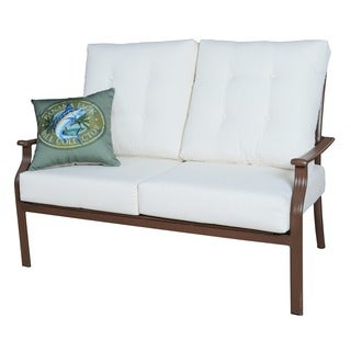Panama Jack Beige Island Breeze Deep Seating Loveseat with Cushion