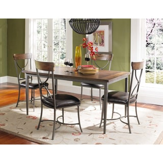 Cameron 5-piece Rectangle Dining Set with X-back Chairs