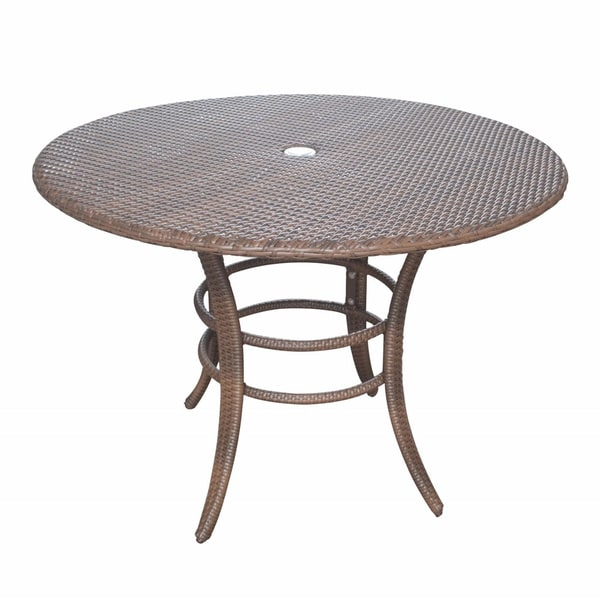 Panama jack key biscayne woven 42 inch round dining table for 42 inch round dining table