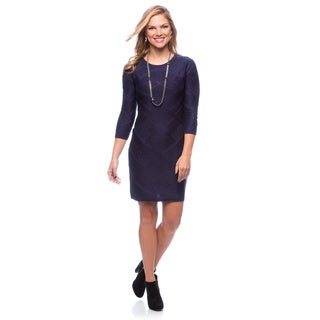 Jessica Simpson Women's Clematis Blue 3/4-sleeve Sweater Dress