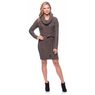 Jessica Simpson Women's Long-sleeve Tie-waist Raglan Sweater Dress