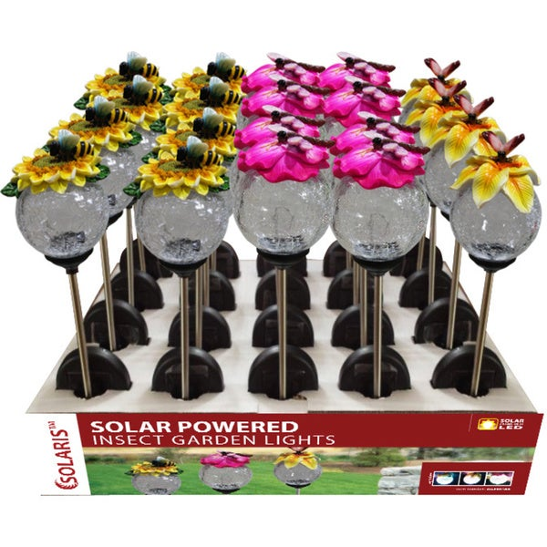 Solar Bee/ Butterfly/ Dragonfly LED Garden Stakes (Set of 20)